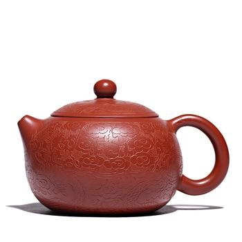 Ore Dahongpao handmade teapot yixing carved kettle kung fu pot drinkware