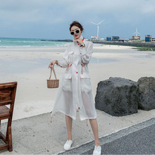 Trend Coat Feminino Solid Plus Size Bohemian Transparent Thin Designer Coat Beach Fashion Women's Autumn Asymmetrical Ponchos plus size asymmetrical hooded coat
