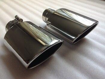 Эллипс из нержавеющей стали для автомобиля Универсальный глушитель хвост горло модификация автомобиля