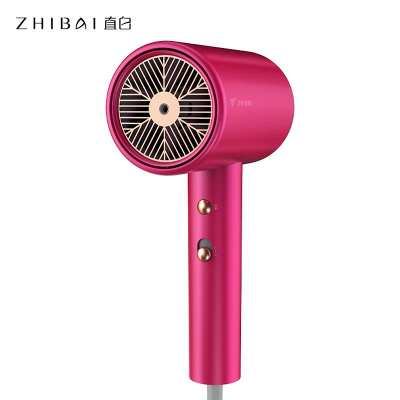 Secador de Cabelo Vermelho de Secagem Secador de Cabelo para Casa Zhibai Anion Electic Rápida 3 Calor Seting 2 Velocidade Temperatura mi para Casa Portátil Hl510 1800w