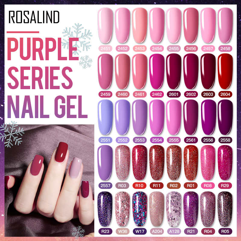 ROSALIND Nail Gel Polish Hybrid Varnishes All For Manicure Gel Vernis Semi Permanent Nails Extension Lacquer UV Gel Top Coat
