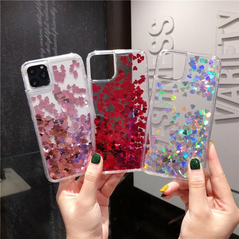 iPhone Back & Case & Love Heart Glitter - 1mrk.com