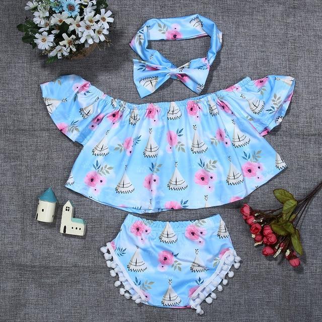 2019 Summer Newborn Baby Girls Sleeveless Dress+Briefs 2 Piece Set Clothing Infant Toddler Underwear Stripe Print clothes 0-24M