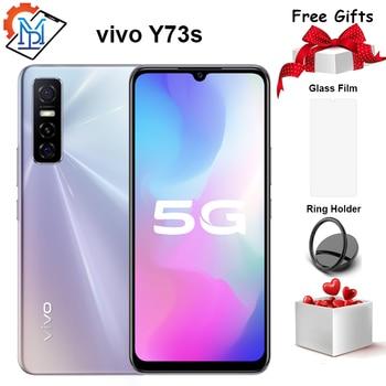 Original Vivo Y73s 5G Mobile Phone 6.44 Inch 8GB+128GB MTK 720 4100mAh Battery 18W 48.0MP Triple Rear Cameras Amoled Smartphone