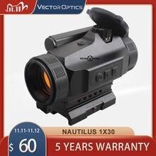 Óptica do vetor caça 1x30 reflexo red dot sight scope 3 moa auto brilho ajuste ak47 ar15 9mm laru picatinny weaver ferroviário