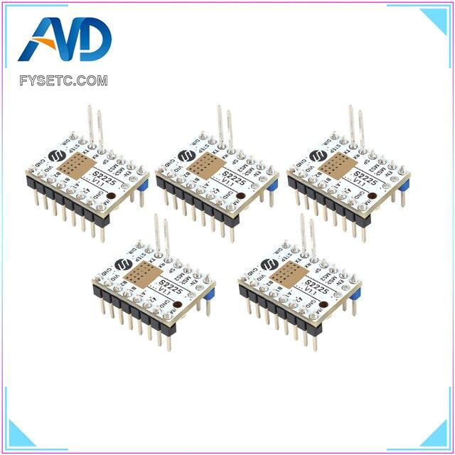 6pcs TMC S2225 V1.1 Stepping Motor Driver Stepsticks Mute Driver UART Replace TMC2208 TMC2209 256 Microsteps 2A Peak TMC2225