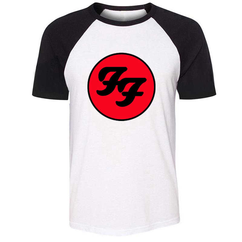 IDzn Unisex Estate T-shirt Foo Fighters Hard Rock And Roll Band Design Pattern Raglan Manica Corta Da Uomo T shirt casual tee Magliette e camicette