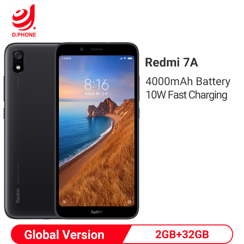 Globale Version Xiaomi Redmi 7A 7 EINE 2GB <font><b>32GB</b></font> 5,45