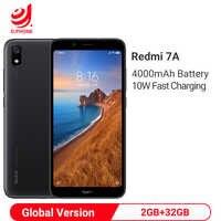"""Wersja globalna Xiaomi Redmi 7A 7 2GB 32GB 5.45 """"Snapdargon 439 Octa rdzeń 4000mAh 13MP aparat Face ID smartfon"""