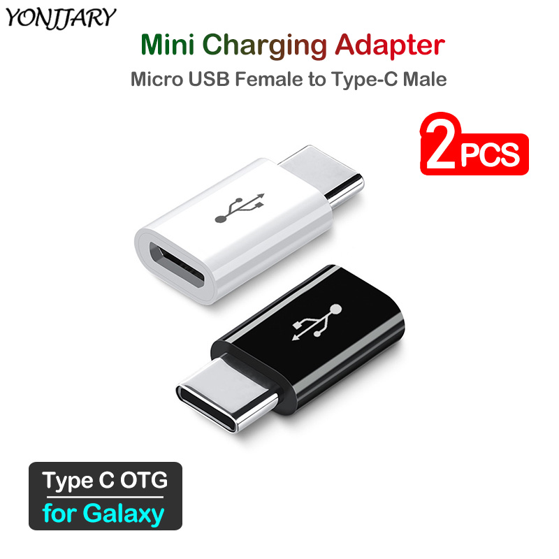 2Pcs Micro USB To Type C Charging Adapter For Samsung Galaxy C5 C7 C9 Pro A6s A8s A9s A3 A5 A7 2017 A8 A9 2018 S10 Note 10 Lite