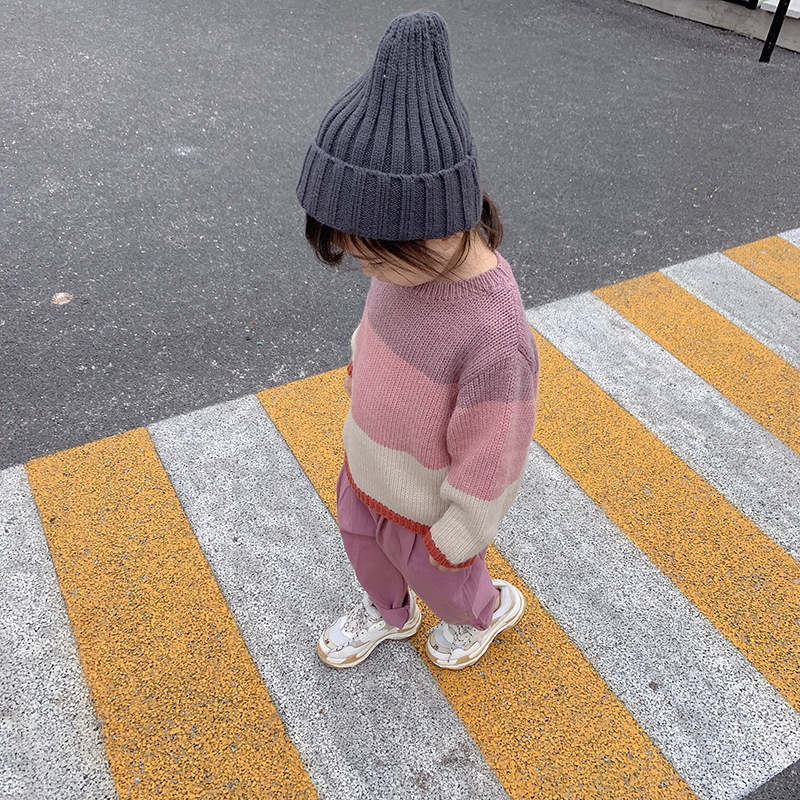 Sumeng Korean-style Autumn Girls Pullover Sweater Female Baby Small CHILDREN'S Mixed Colors Sweater