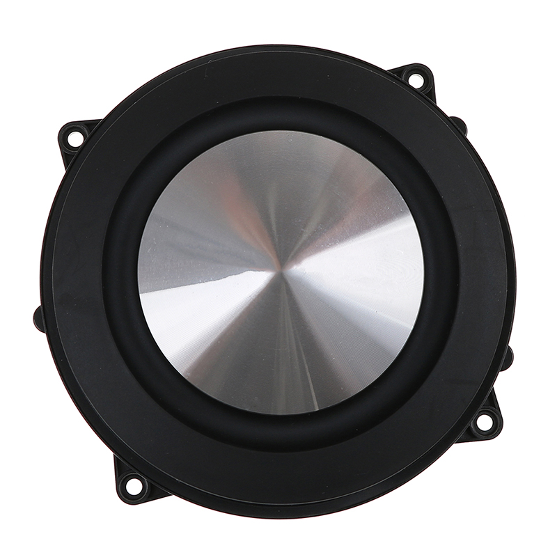 1pc 4Inch 120MM Bass Radiator Passive Radiator Speaker Brushed Aluminum Auxiliary Bass Vibration Membrane For Woofer DIY W/ Logo