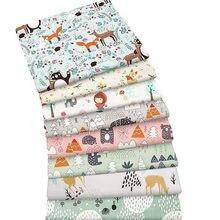 Tissu 100% coton motif dessin animé, 8 pièces, pour Patchwork, couture et matelassage, Fat quarter, matériel pour bébé et enfant