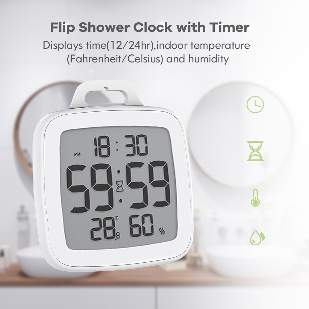 Baldr FLIP Waterproof Digital Kitchen Timer For Cooking Shower Stopwatch Alarm Clock Electronic Cooking Countdown Touch Timer