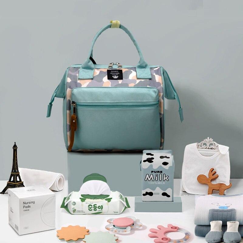 Mini Diaper Bag Backpack Portable Crossbody Waterproof Lightweight 0.38kg Mummy short trip Baby Milk powder Care Women Handbag