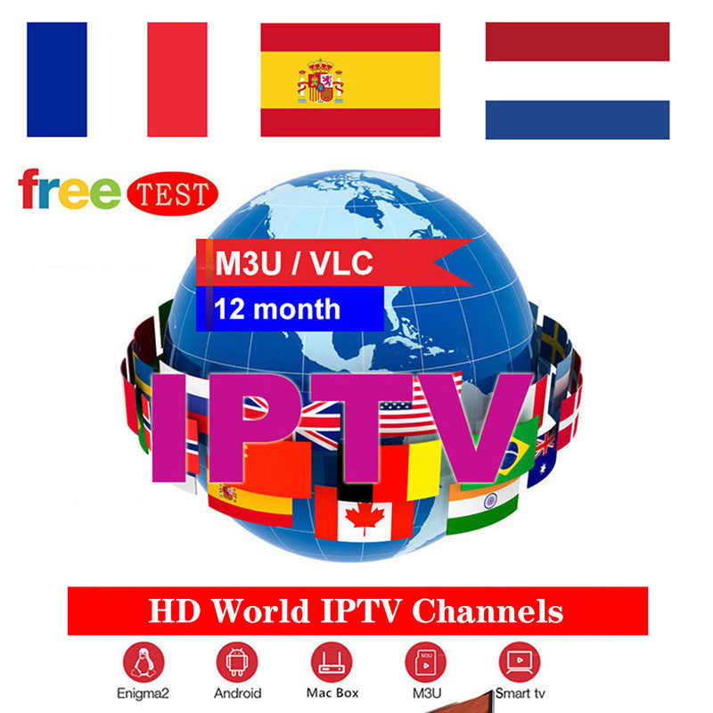 IPTV M3U Subscription UK Italia Portugal French Spanish Turkish IPTV Account Code M3u Enigma Smart World TV for Mag Android box