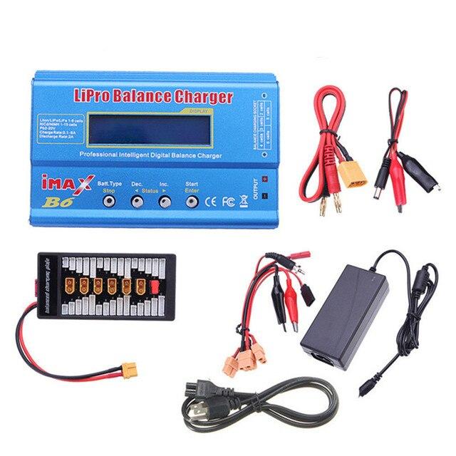 iMAX B6 80W 6A Lipo Battery Balance Discharger Charger for Lipo NiMh Li-ion Ni-Cd Digital Battery w/ 15V 6A Power Supply Adapter