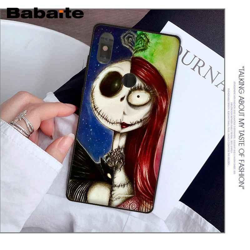 Babaite The Nightmare Before Christmas Caso de Telefone Preto para 5 5 plus Nota mi Vermelho Nota 4 4X Xiao mi mi 6 8 8SE Cobertura Móvel