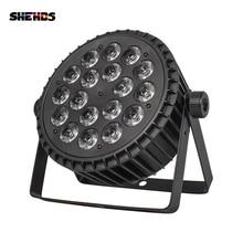 Alüminyum alaşımlı LED Par 18x12W RGBW 4in1 LED Par Par LED Par ışık DMX sahne ışıkları veya parti KTV disko DJ lamba DMX512 4/8CH