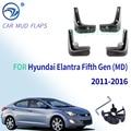 Брызговики автомобильные для Hyundai Elantra MD 2011 2012 2013 2014 2015 2016 брызговик, брызговики