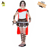 Woman Sexy Warrior Cosplay Costume Adult Halloween Costume Party Party Set Woman Luxury Soldier Warrior Cloak Cool Dress