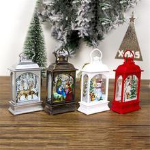 Рождественское декоративное освещение портативные светодиодные фонари праздничные декоративные лампы для рождественской елки украшения Рождественские подарки