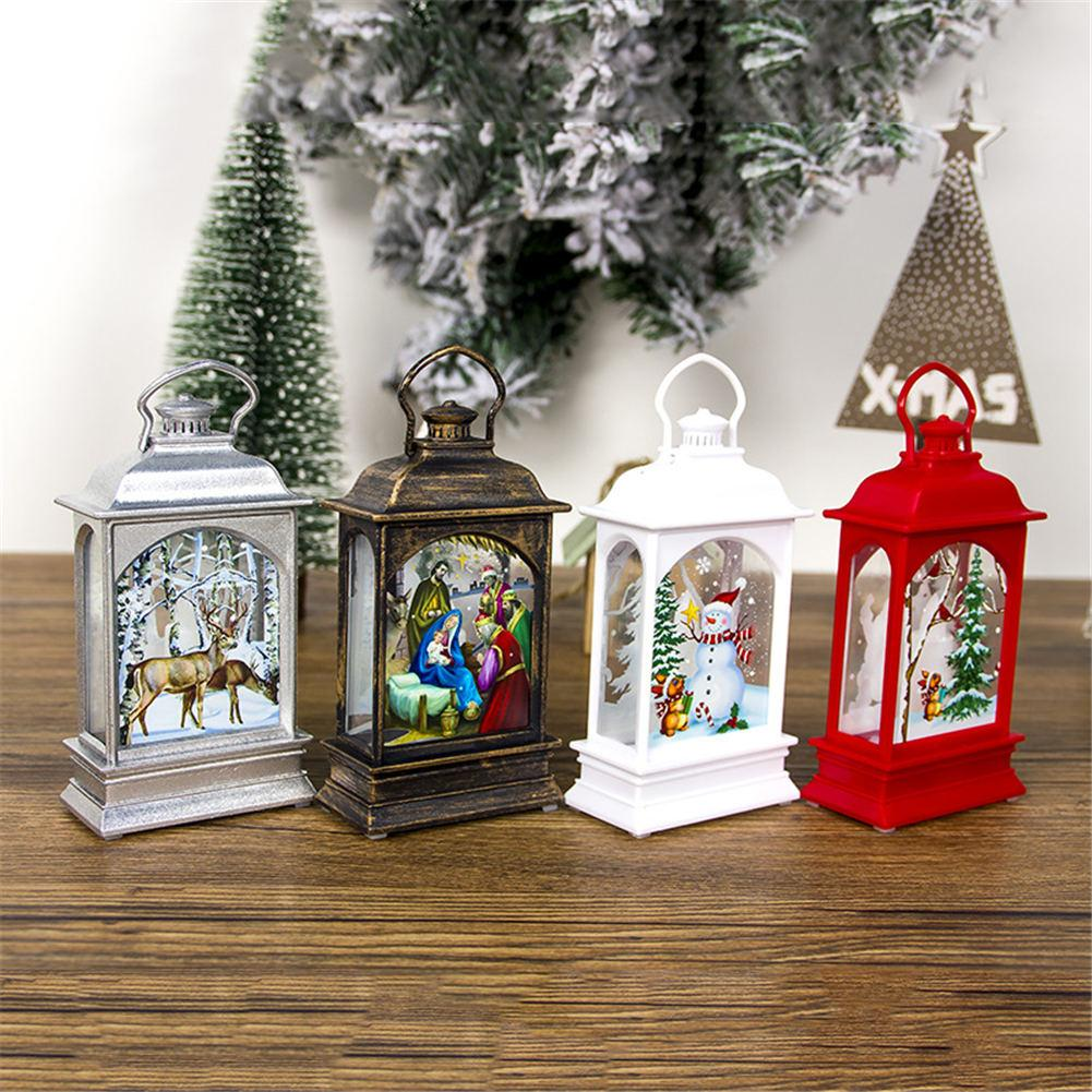 Christmas Decoration Lamp Portable LED Lanterns Holiday Decorative Lamp For Christmas Tree Ornaments Xmas Gifts