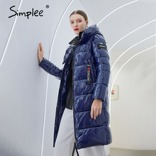 Jacket Parka Women Coat Simplee Winter Fashion Warm Elegant Long Casual with Hat New-Design