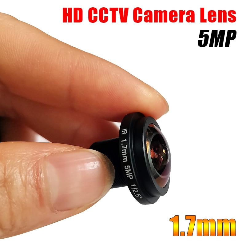1.7mm Fisheye Lens 5MP For HD CCTV IP POE Camera M12 Mount 1/2.5
