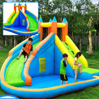Children's Park Trampoline for Kids Pool Outdoor Inflatable Water Slide Safety Child Game Inflatable Castle Inflatable Bouncer