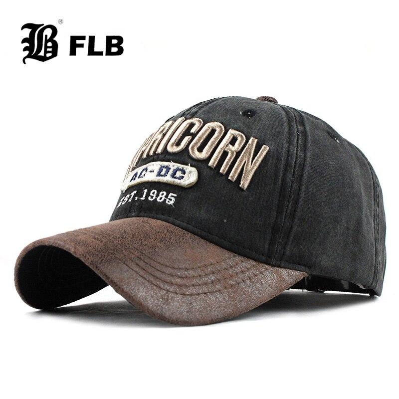[FLB] New Baseball Caps For Men Denim Streetwear Women Dad Hat Snapback Embroidery Men'S Cap Casual Casquette Hip Hop Cap F363