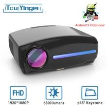 Touyinger S1080 C2 Full HD 1080P светодиодный проектор (4K Видео Android 9 Wifi опционально) Умный домашний кинотеатр AC3 200 дюймов 4D keystone
