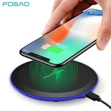 FDGAO Wireless Charger for iPhone X XS MAX XR 8 Plus Qi Charging Pad For Samsung S8 S9 S7 Note 9 8 Xiaomi USB Phone Charge Dock(China)
