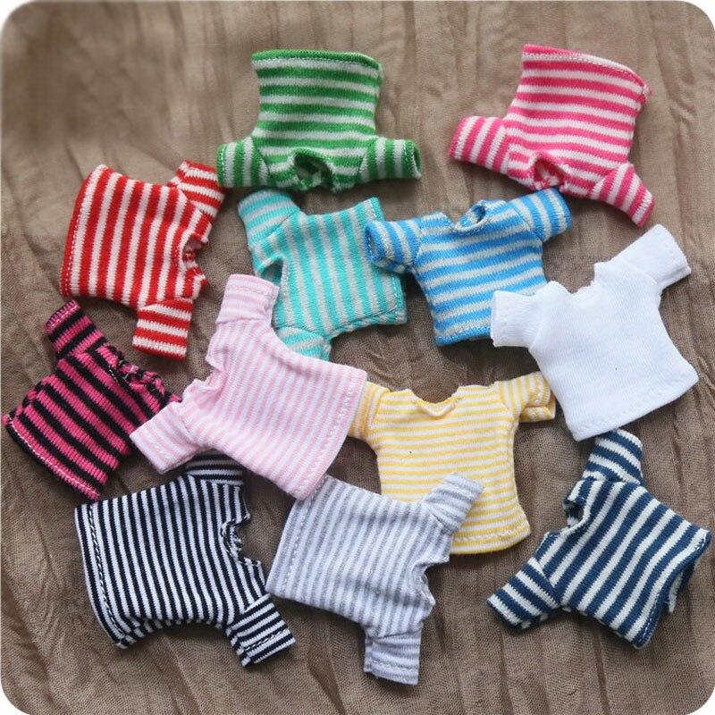 Ob11 Baby Clothes 1/12 Bjd Beauty Knot Piglet Joker T-shirt Long Short Sleeve GSC Doll Clothes Dolls Accessories