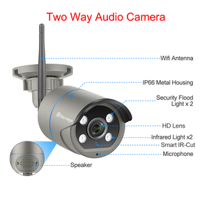 Image 2 - Techage 8CH 1080P Wireless NVR Camera Kit CCTV Security System Outdoor Wifi IP Camera 2MP Audio Sound P2P Video Surveillance Set