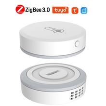 1/5Pcs ZigBee 3.0 Temperature Sensor Humidity Detector Tuya Smart Life APP Real-time Check Smart Home For Alexa Google Home