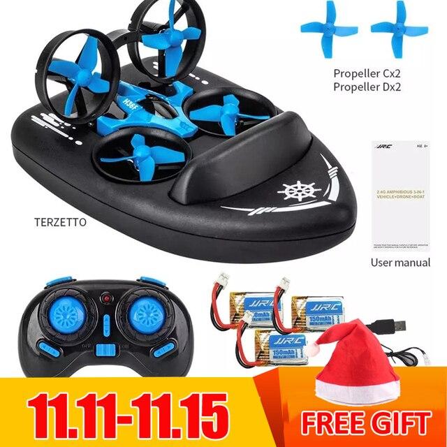 JJRC H36F H36 3 1 ミニでドローンボート車の水地面空気モード 3 モード高度ホールドヘッドレスモード RC Quadcopter ヘリコプターおもちゃ