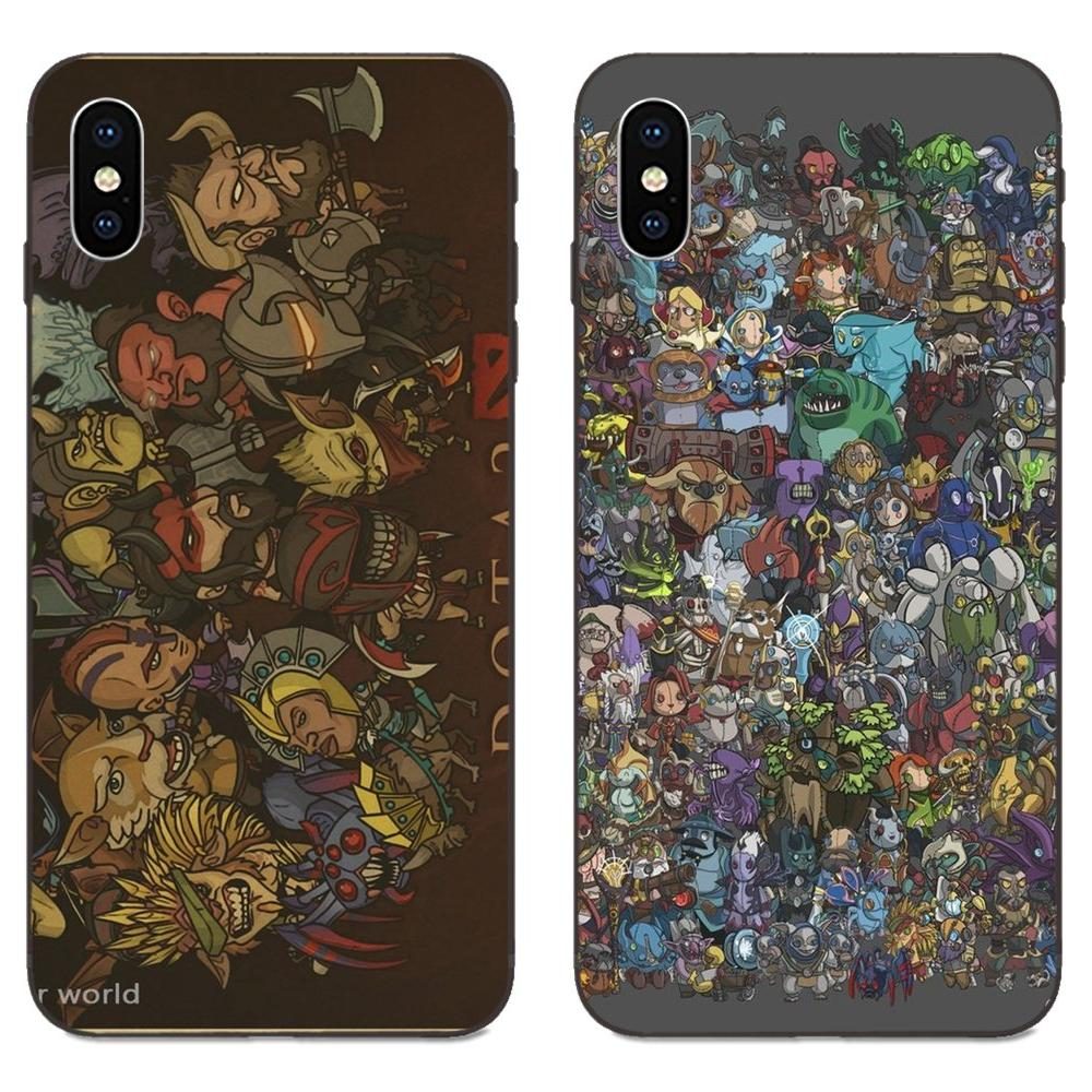 For Xiaomi Redmi Note 3 3S 4 4A 4X 5 5A 6 6A 7 7A K20 Plus Pro S2 Y2 Y3 Soft TPU Cool Best Cover Case Game Dota 2 Collage image