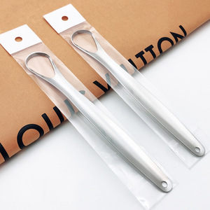 1PC Useful Tongue Scraper Stainless Steel Oral Tongue Cleaner Mouth Brush Reusable Fresh Breath Oral Hygiene Care Tools