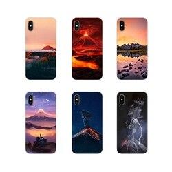 Чудеса природы вулкан для Samsung A10 A30 A40 A50 A60 A70 M30 Galaxy Note 2 3 4 5 8 9 10 PLUS Аксессуары чехлы для телефонов