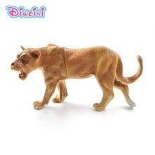 Sztuczny lew las model zwierzęcia realistyczne figurka home decor figurka prezent edukacyjny dla dzieci plastikowa zabawka