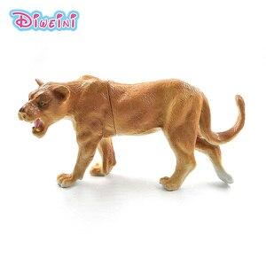 Image 1 - Sztuczny lew las model zwierzęcia realistyczne figurka home decor figurka prezent edukacyjny dla dzieci plastikowa zabawka