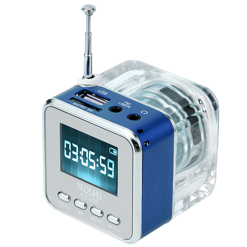 Multimedia UXCELLMO NiZHi <font><b>TT</b></font>-<font><b>029</b></font> Digital FM radio Clock Alarm USB TF Music Mp3 Player Mini Speaker image