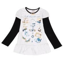 Girls Long Sleeve T-Shirt Autumn New Cotton Kids Wearing Medium and Small Children Print Digital Girls Long Sleeve Top T-Shirt недорого