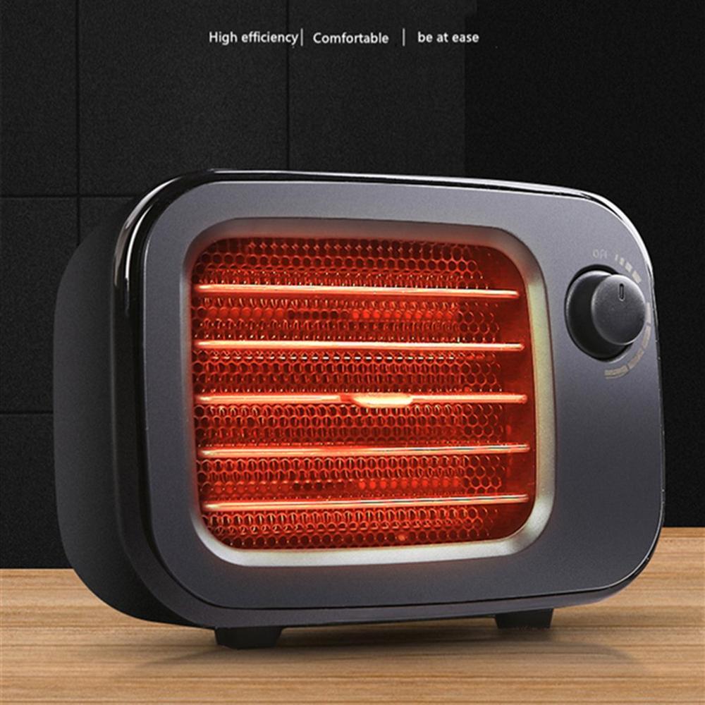 Retro Classic PTC Ceramic Heating Fan EU US Plug Round Timing Noiseless Heater Home Office Heater Compact Drop Shiping