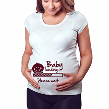 2019 Women Pregnancy Clothing Ropa De Mujer Nursing Maternity Cute Funny Pattern Print Short Sleeve Casual T-shirt Pregnant Tops(China)