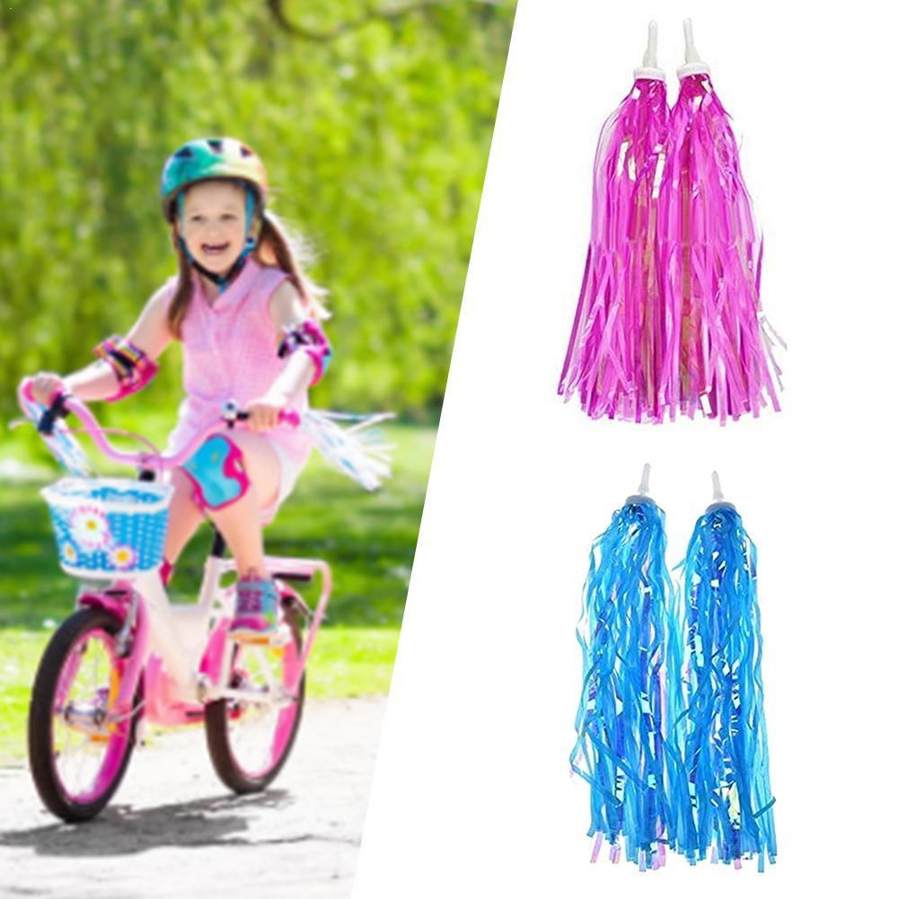 1 Pair Bicycle Handlebar Streamers Bicycle Grips Tassels Ribbons Colourful Accessories