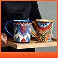 Kreative Böhmischen Becher Europäischen Keramik Nette Trinken Milch Kaffee Tasse Haushalt Hand-gemalt Große Kapazität 500ml Wasser Tasse