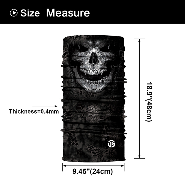 3D Seamless Bandana Neck Gaite Breathable Head Shield Half Face Cover Headband Anti-UV 6