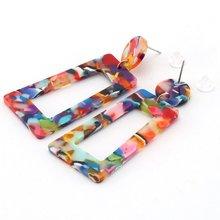 Акриловые серьги женские аксессуары простые серьги ювелирные изделия винтажные акриловые серьги для женщин модные ювелирные изделия